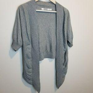 Athleta • Grey Short Sleeve Crop Cardigan